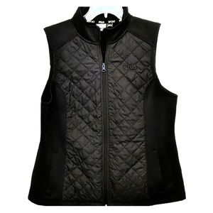 FILA QUILTED ZIP-UP VEST LARGE